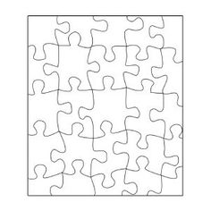 Blank Jigsaw Puzzle Template - Polyvore