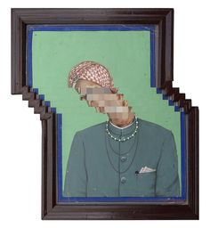 Artist Nandan Ghiya creates works corrupting vintage portraits with physical approximations of familiar digital distortions.