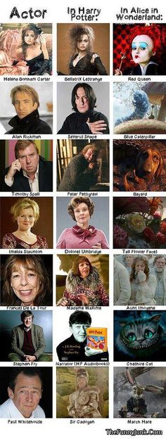 Alice in Wonderland  Harry Potter
