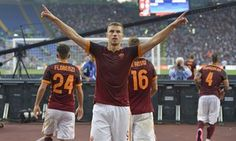 Edin Dzeko has scored 12 goals in 16 appearances for Roma this season, making the Bosnian the joint top-scorer in Serie A