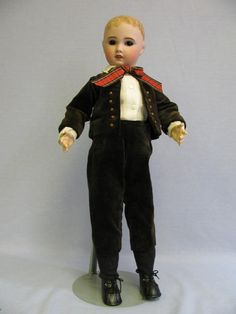 "22"" Antique French Bisque Doll SFBJ PARIS with Hand-Modeled Molded from turnofthecenturyantiques on Ruby Lane"