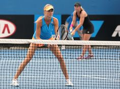 Daniela Hantuchova Photos: Australian Open: Day 5 Daniela Hantuchova of Slovakia and Lisa Raymond of the United States in action in their first round doubles match against Mandy Minella of Luxembourg and Chanelle Scheepers of South Africa during day five of the 2014 Australian Open at Melbourne Park on January 17, 2014 in Melbourne, Australia. (January 16, 2014 - Source: Michael Dodge/Getty Images AsiaPac)
