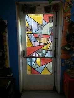 Stained glass window art....