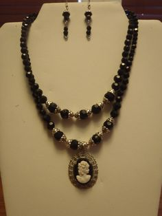 Vintage and costume jewerly pieces. There is just something about cameos, simple-but elegant!