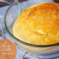 Receta fácil de pan en cazuela Croissants, My Favorite Food, Favorite Recipes, Cooking For Dummies, Macaroon Recipes, Pan Dulce, Pan Bread, Pain, Food And Drink