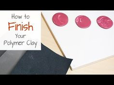 This beginner's tutorial details how to go about finishing your polymer clay pieces, including sanding, buffing and adding a final finish or sealant or varni. Polymer Clay Projects, Polymer Clay Creations, Polymer Clay Earrings, Handmade Jewelry Tutorials, Clay Tutorials, Diy Jewelry, Sanding Tips, Clay Art, Clay Clay