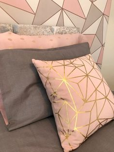 Modern grey, blush and rose gold teen room makeover for Make A Wish UK