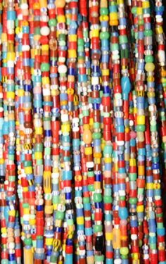 Antique African beads, Christmas beads