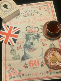Diamond Jubilee - I bought the tin in the upper lefthand corner when we were there in May!