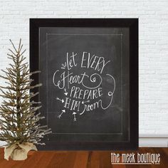 INSTANT DOWNLOAD Christmas Printable Let Every by TheMeekBoutique