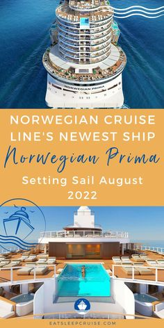 We've roundup all the particulars of the Norwegian Cruise Line's newest ship Norwegian Prima! Read before you book your cruise with the Norwegian Prima. Here is everything we know so far about this innovative new vessel setting sail in August 2022. Find out about their quality of standard, ship design, entertainment, cuisine, and itineraries. Plus take a look at the beautiful destinations! Including Iceland, the Caribbean, and more! Is this the dream cruise vacation you've been waiting for? Cruise Checklist, Cruise Tips, Best Cruise, Cruise Vacation, Cruise Reviews, Norwegian Cruise Line, Caribbean, Sailing, Entertaining