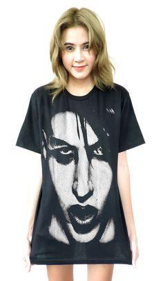 Marilyn Manson Face T-Shirt Sz.SMLXL by kimrockshop on Etsy