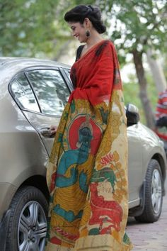 Kalamkari Kraft: Sarees by National Awardee M Vishwanath Reddy