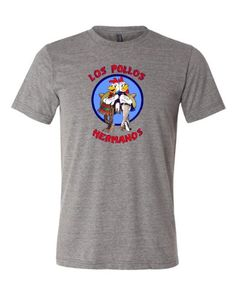Adult Los Pollos Hermanos Breaking Bad Inspired T-shirt, Grey, Large Breaking Bad http://www.amazon.com/dp/B00BF2206E/ref=cm_sw_r_pi_dp_OhMswb02ZCQD2