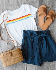 Pride Stripe Tie-Front Crop Top #shoppriceless