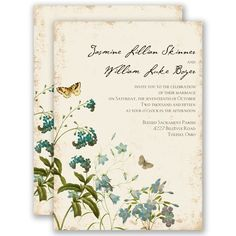 Natural Glade Wedding Invitation by David's Bridal #weddings