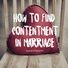 Do you feel content in your marriage? @Susan Merrill #marriageadvice