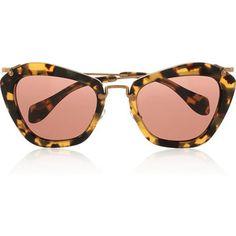 miu miu tortoise shell cat eye sunglasses - Google Search