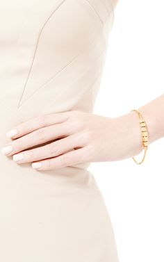 Chanel Sliding Letters Bangle by What Goes Around Comes Around for Preorder on Moda Operandi