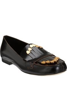 25bc6b977a86 Chloé s Gold-Tone Tipped Fringe Loafers ( 795) are a favorite of Diane  Kruger s