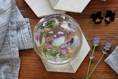 Tips and Ideas for Making Edible Flower and Herb Ice Cubes - Edible Flowers, Snow Globes, Herbs, Tasty, Canning, Ice Cubes, How To Make, Imagination, Inspiration