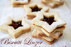 Biscuiti Linzer - Retete culinare by Teo's Kitchen My Favorite Food, Favorite Recipes, Romanian Food, Dessert Recipes, Desserts, Brown Sugar, Biscuit, Crockpot, Slow Cooker