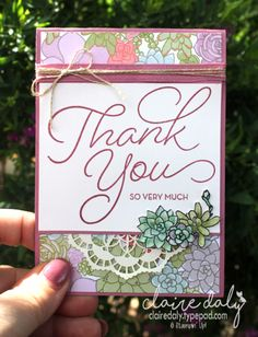 Stampin Up So Very Much, Oh So Succulent, Succulent Garden DSP. Occasions and Saleabration 2017. By Claire Daly, Stampin Up Melbourne Australia.