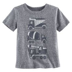 1d20f7c5c Toddler Boy Jumping Beans® Dump Truck, Cement Mixer & Crane Truck Graphic  Tee