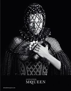 Romantically dark, Edie Campbell models the Alexander Mcqueen Fall 2013 shot by David Sims.