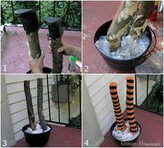 DIY Witch Shoes | Halloween Decoration: Crashing Witch