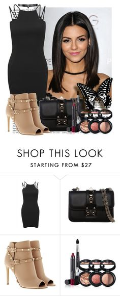 """Rockstud"" by juliet222 ❤ liked on Polyvore featuring AX Paris, Valentino, Laura Geller and Fallon"
