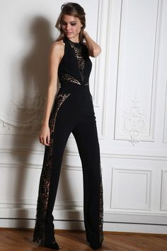 @roressclothes clothing ideas #women fashion black jumpsuit Zuhair Murad Fall 2014-2015 Collection