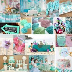 Little Mermaid Party Ideas intertwinedevents.com Tons of party ideas @ www.partyz.co !