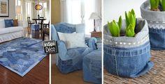 Récupérer les vieux jeans pour décorer la maison! Voici 20 idées... Récupérer les vieux jeans.Aujourd'hui nous vous présenterons 20 idées créatives pour décorer votre maison avec vos jeans usagés! Laissez-nous vous inspirer avec ces 20 photos...