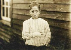 Giles Edmund Newsom was working at Sanders Cotton Manufacturing Co. in Bessemer City when Lewis Hine photographed him in 1912 as part of an expose of the working conditions of children. (records indicate this child died at age 18 in 1918 from spanish influenza)