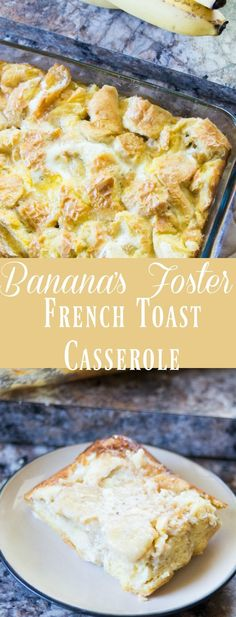 This overnight banana's french toast casserole recipe is DELICIOUS and EASY! Perfect for the holidays. via /clarkscondensed/