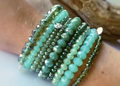 Prachtige groene BIBA armbandjes! <3