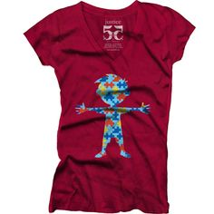 Women's Autism T Shirt Made In America! FREE SHIPPING! (US) Made in California from 100% combed cotton. This women's t-shirt is pajama soft and cut for a flattering fit. Side seamed. Tagless. Preshrunk. Elegant yet comfy. Available in Cardinal Red Guaranteed satisfaction. $7.00 from this purchase will go to our Autism Partner (Select Autism Below) or the charity of your choice by entering your charity below!