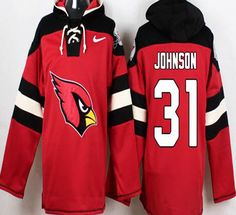 David Johnson Red Pullover NFL Hoodie