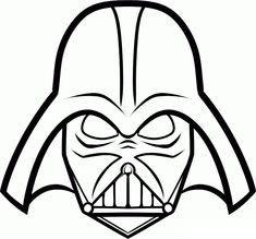 Darth Vader Mask Printable Star Wars Cake Party Masque