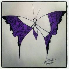 100 Butterflies in 100 Days, Day 32, Medium: Color Pencil