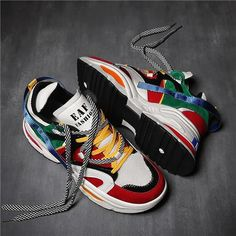 pretty nice 452d7 992c9 G890 Men s Chunky Sneakers Comfortable Fashion Athletic Shoes EU39.5 -  White Sneakers Muoti