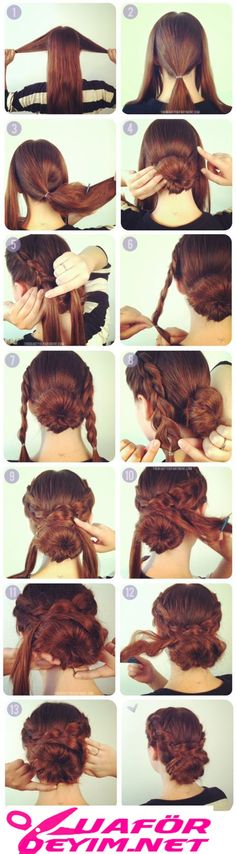 Best Hairstyles for Long Hair - Hot Crossed Bun - Step by Step Tutorials for Easy Curls, Updo, Half Up, Braids and Lazy Girl Looks. Prom Ideas, Special Occasion Hair and Braiding Instructions for Teen (Long Hair Tutorial) Curly Hair Styles, Natural Hair Styles, Hair Styles Steps, Hair Donut Styles, Easy Hair Styles Long, Hair Styles For Long Hair For School, Straight Hair Updo, Casual Updos For Long Hair, Easy Updos For Long Hair