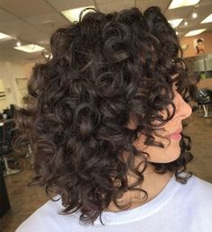Trying to update your bob haircut for curly hair? You'll want to see our list of beautiful curly bob ideas to find the right one for you. Layered Curly Haircuts, Bob Haircut Curly, Haircuts For Curly Hair, Short Curl Hairstyles, Summer Hairstyles, Short Layered Curly Hair, Layered Lob, Curly Layers, 2015 Hairstyles