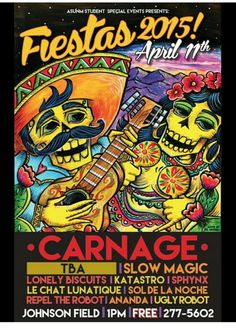 ***Save the date*** April 11th Free concert on Johnson Field. Biggest sound package and production than any year prior. Thank you ASUNM student special events for all your hard work.************************* Fiestas 2015 after-party feat. Carnage now on sale. $14.99 GA  18+ $19.99 VIP Mezzanine 21+ www.redfishEnt.com #redfish #party #music #free #event #music #beats #bass #dance #johnsonfield #unm #production #entertainment #studentspecial #special #carnage #fiesta #nm  #505 #mezzanine…