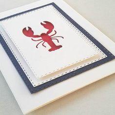 card with critters lobster #lobster sea summer nautical ocean - Heute auf der…
