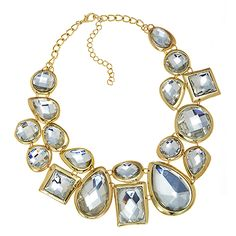 Galore Necklace (Gold/Clear) Item #: 5798 16''-21'' Necklace Your Price:	$36.00 F/W 2012 S/S 2013