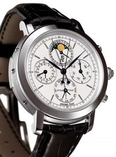 Audemars Piguet   Platinum Jules Audemars Grande Complication - $730,000 (Rattrapante, repetition, moonpahse, chronograph, perpetual calendar)