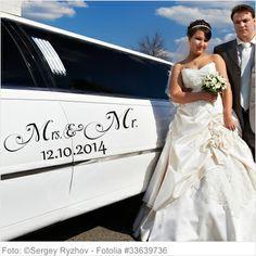 Autoaufkleber Hochzeit - Mrs. and Mr.