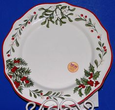 better homes gardens christmas heritage dinner plates s2 nwt 2 sets available